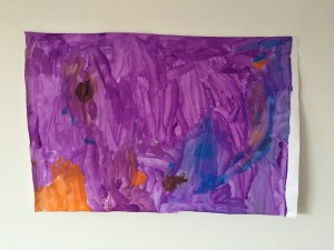 Purple All Over (2014) - Paint on paper.